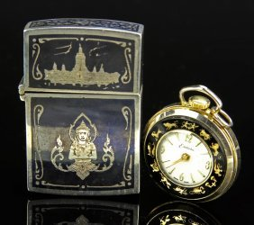 Two Thai Silver Items