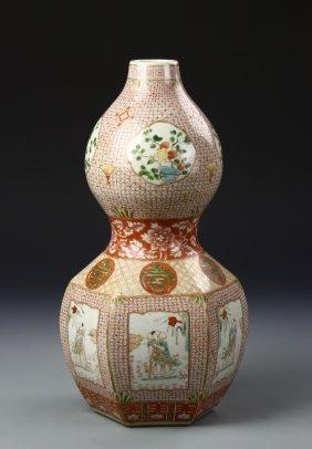 Chinese Sancai Gourd Vase
