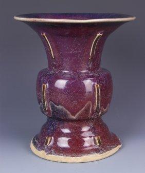 Chinese Jun Ware Gu Vase