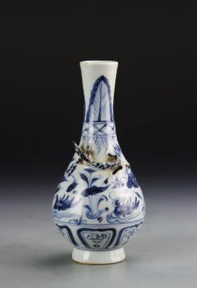 Chinese Black And White Yuhuchunping Vase