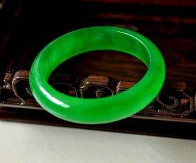 Chinese Green Jadeite Bracelet绿色翡