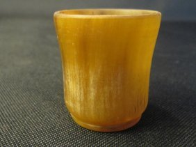 Chinese Carved Horn Cup 角彫杯