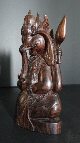 Chinese Wood Carving Elephant God木彫