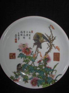 Castiglione Painted Enamel Dish Chrysanthe 郞