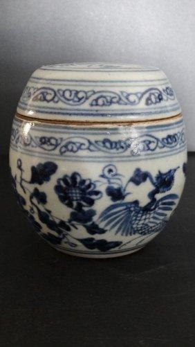 Chinese The Ming Blue & White Pot明清