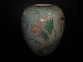 Chinese A Republic Time Lotus Jar