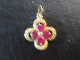 Chinese Pink Stone Pendent