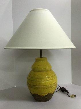Ugo Zacchgnini Ceramic Pottery Table Lamp