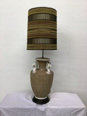 Monumental Italian Lamp With Marie Kipp Shade