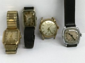 Collection Of Four Mens Wrist Watches