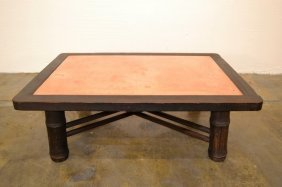Mcguire Copper Top Coffee Table