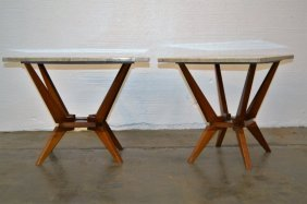 Gio Ponti Style Italian Side Tables