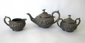 S. Kirk & Son Sterling Silver Three Piece Tea Set,