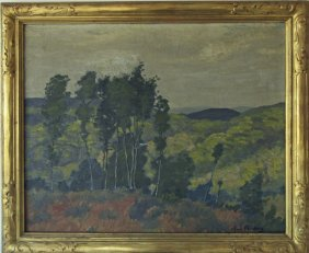 Alfred Feinberg Oil On Canvas Landscape, 20 By 24