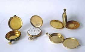 Lot: Waltham Pocket Watch With 14k Marked Case, Gold