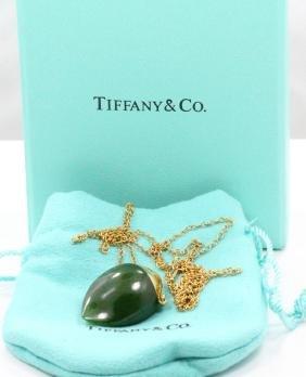 T&co. Peretti 18k Jade Perfume Bottle Necklace
