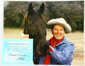 "Ronald Reagan Autographed 8""x10"" Photo W/coa"