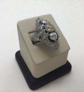 Art Deco Russian Karl Faberge Solid Platinum 5.80ctw