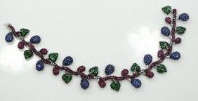 11.45ctw Genuine Blue Sapphire, Ruby, Emerald, &