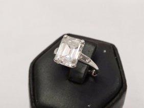 3.70ct Gia Certified Vs2/i Emerald-cut Diamond & Solid