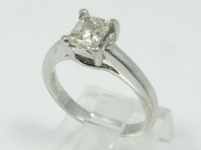 1.00ct Genuine Princess-cut Si1-si2/h-j Diamond