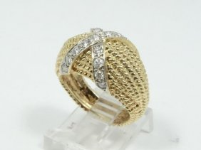 Solid 18k Yellow Gold & 0.85ctw Genuine Si1-si2/g-h