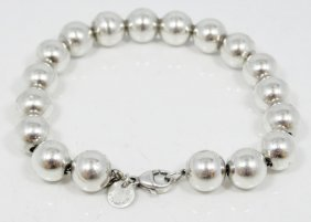 """Tiffany & Co. Solid Sterling Silver 7"""" Ball Chain"""