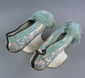 One Pair Qing Dynasty Lady Shoes