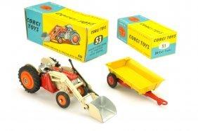 Corgi Toys - Massey-ferguson Mit Anh. (im Ork)