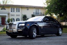 2011 Blue Rolls Royce Ghost Sedan