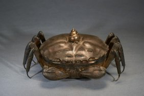 A Silver Model Of Crab Box