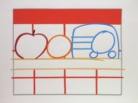 "Tom Wesselmann ""still Life With Apple, Orange, And"