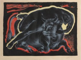 "Hans Erni ""europa And The Bull"""