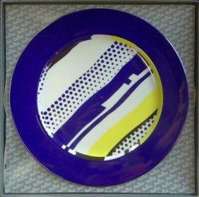 """Roy Lichtenstein """"untitled"""" Dinner Plate"""