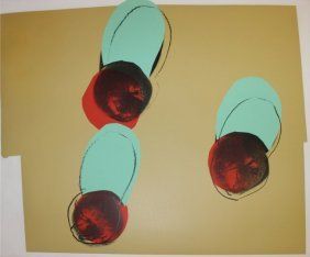 """Andy Warhol """"apples From Space Fruit: Still Lifes"""""""