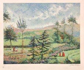 """H. Claude Pissarro """"garden Of Yves St. Laurent"""""""