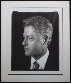 "Chuck Close ""untitled (president Clinton)"""