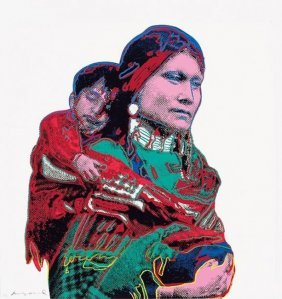 """Andy Warhol """"mother And Child"""""""