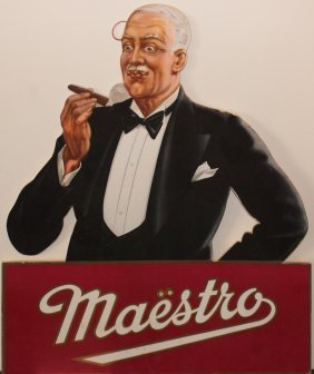 Maestro Cigars Vintage Counter Stand