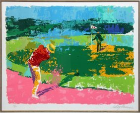 "Leroy Neiman ""chipping On"""