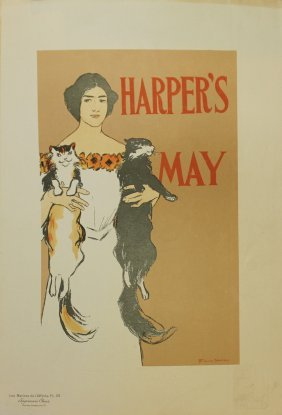 "Edward Penfield ""harper's May"" Vintage Poster"