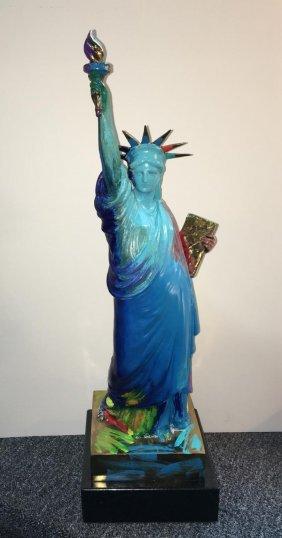 "Peter Max ""statue Of Liberty"" Sculpture"