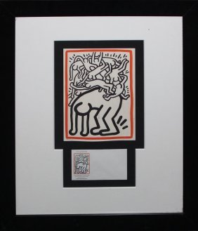 "Keith Haring ""fight Aids Worldwide"""