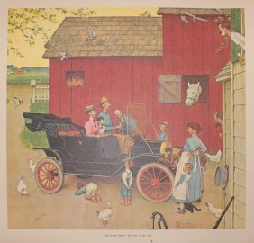 """Norman Rockwell """"the Famous Model T Was Boss Of The"""