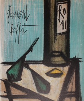"Bernard Buffet ""still Life With Bottle"""