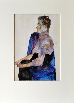 """Egon Schiele """"bildnis Des Malers Anton Peschka"""""""