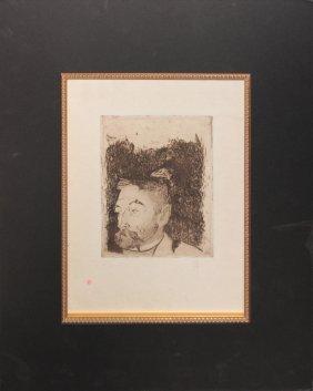 "Paul Gauguin ""portrait De Stephane Mallarme"""