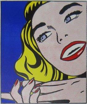 """Roy Lichtenstein """"girl"""""""