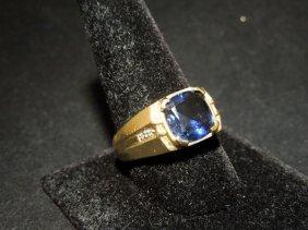 10kyg Sapphire Men's Ring
