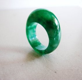 Natural Jadeite Jade Dome Ring Grade A /size: 9